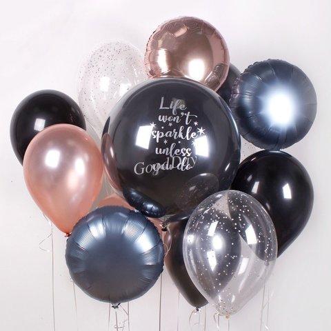 Композиция из шаров с индивидуальной надписью №11