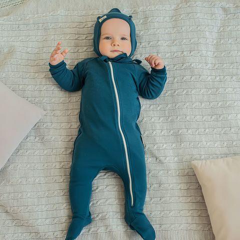 Zip-up sleepsuit 0+, Black Sea