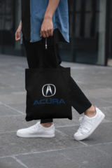 Мужская сумка-шоппер с принтом Акура (Acura) черная 001