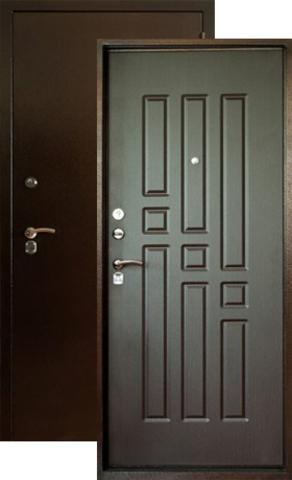 Дверь входная Форт Форт Б-6, 2 замка, 1,8 мм  металл, (медь антик+венге)