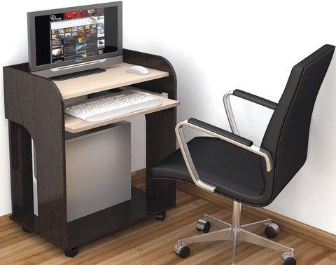 Стол компьютерный Грета-10 ЛДСП ТЭКС венге, дуб молочный