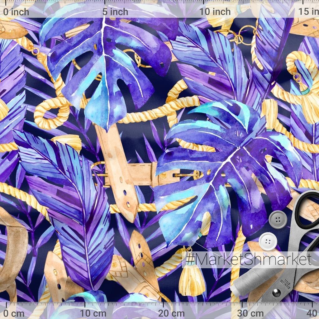 Неоновые тропики с золотыми ремнями и веревками