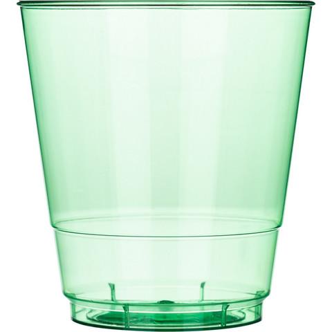 Стакан одноразовый Стандарт пластиковый зеленый 200 мл 50 штук в упаковке
