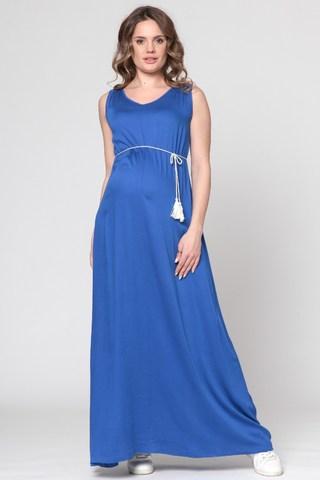 Платье для беременных 10371 индиго