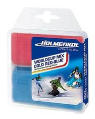 Набор парафинов Holmenkol Worldcup Mix COLD Red-Blue