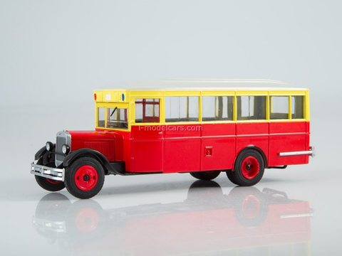 ZIS-8 red-yellow-white 1:43 Modimio Our Buses #9