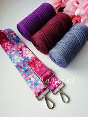 Розовые треугольники Ремень для сумки