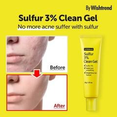 By Wishtrend Sulfur 3% Clean Gel гель против акне 30г