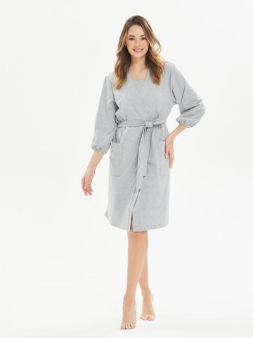 Комплект в роддом (сорочка+халат) Серый меланж