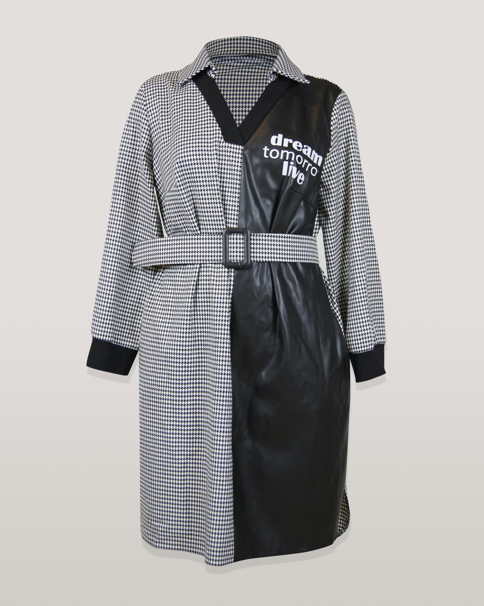 Платье Estilo 2509 гусиная лапка