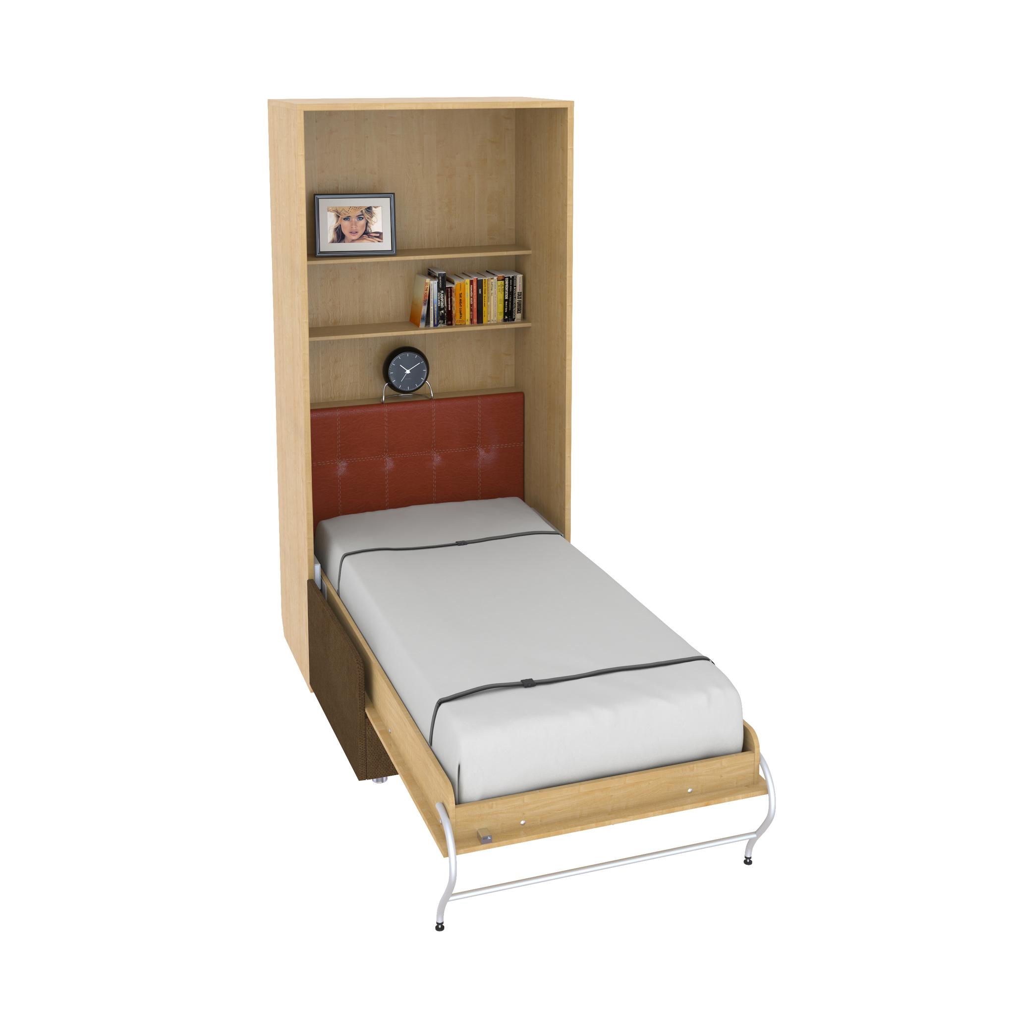 Шкаф-кровать с софой вертикальная односпальная 90 см