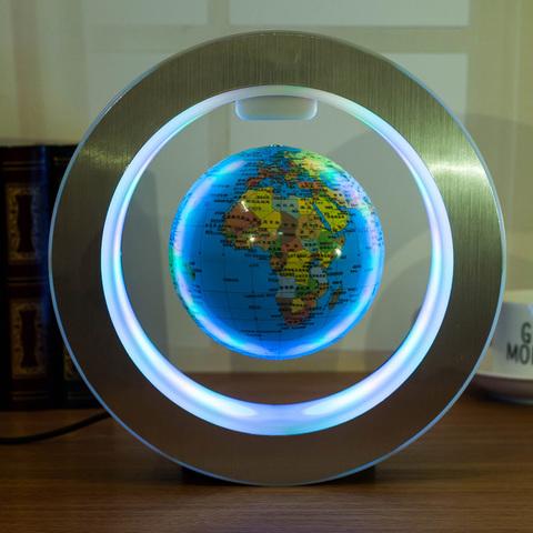 Левитирующий светящийся глобус