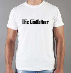 Футболка с принтом Крёстный отец (The Godfather, Корлеоне) белая 09