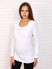 Мамаландия. Лонгслив для беременных и кормящих на запах, белый вид 1
