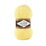 Пряжа Alize Lanagold 187 лимонный