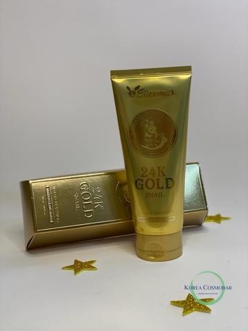 Elizavecca Пенка для умывания с муцином улитки и золотом - 24K Gold snail cleansing foam, 180мл