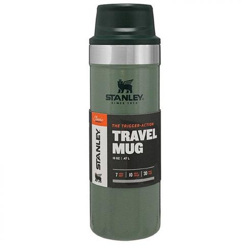 Термокружка Stanley The Trigger-Action Travel Mug (10-06439-030) 0.47л зеленая