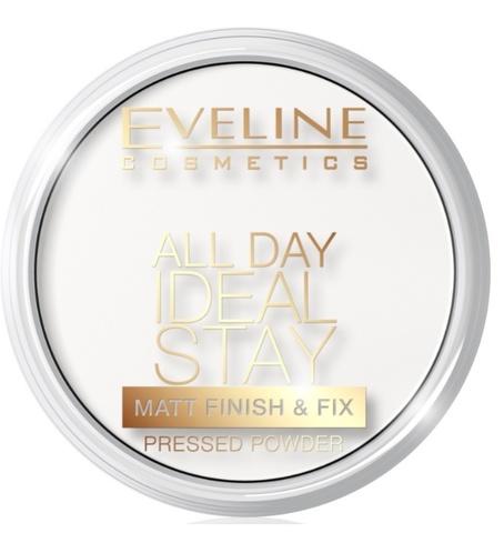 EVELINE Пудра матирующе-укрепляющая тон №60 бесцветная серии ALL DAY IDEAL STAY