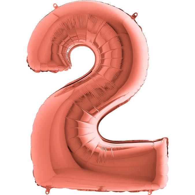 Цифра Розовое золото 2