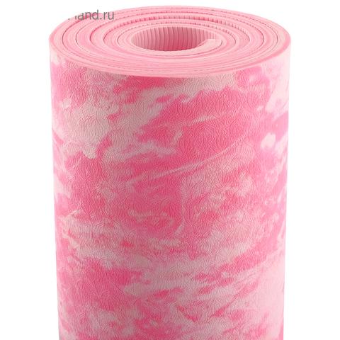 Коврик для йоги Сакура 183*61*0,6-0,8 см