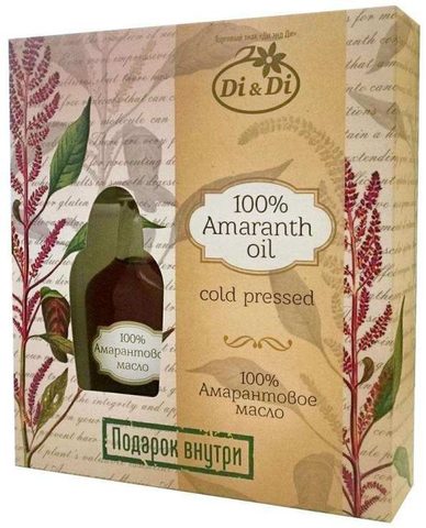Масло амарантовое холодного отжима Di&Di, 100мл