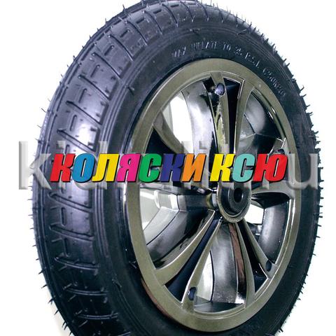 Колесо для детской коляски №005065 надув 10дюймов без вилки 47-152 10х1,75х2 металлизация