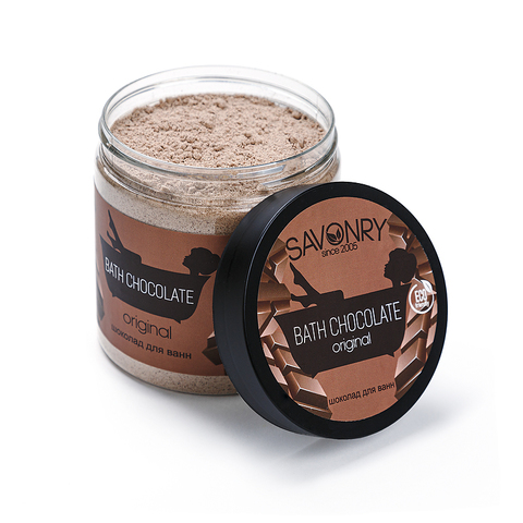 "Сухой шоколад для ванн ""Шоколад"" банка | 500 мл | Savonry"