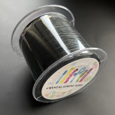 Спандекс резинка для браслетов 0,8 мм 130 метров черный