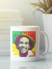 Кружка с рисунком Боб Марли (Bob Marley) белая 009