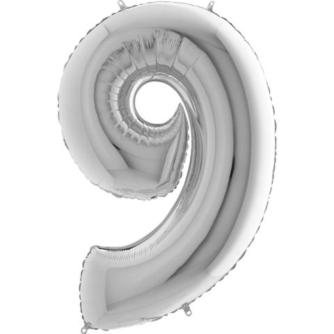 Цифра 9 (Серебряная)