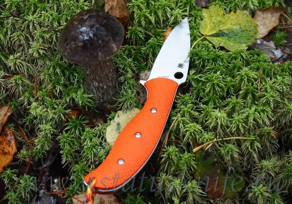 Нож Spyderco Mule Team 23 CPM 20CV Orange Handle - фотография