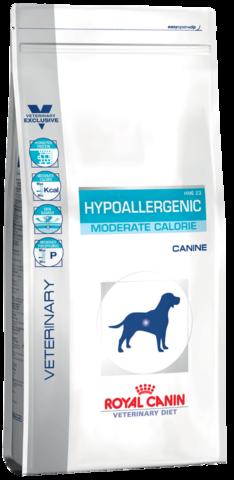 Royal Canin Hypoallergenic HME 23 Moderate Calorie для собак при пищевой аллергии