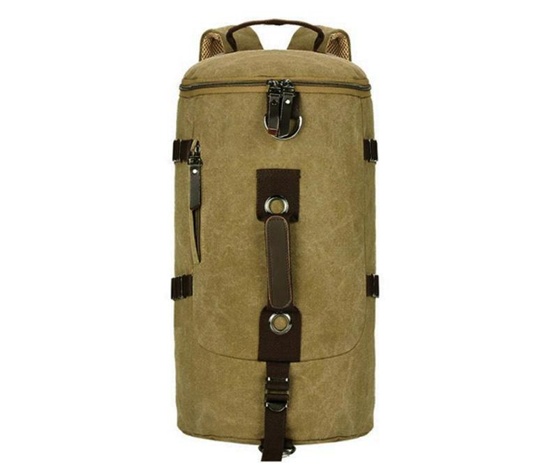 BAG309-2 Мужской рюкзак трансформер из ткани коричневого цвета