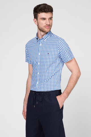 Мужская голубая рубашка WCC SLIM DOBBY Tommy Hilfiger