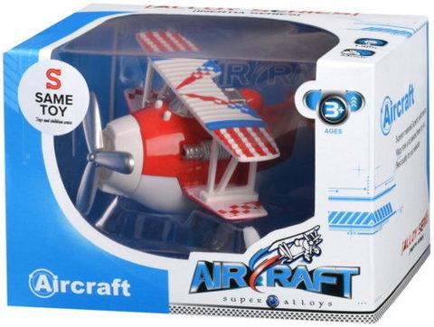 Самолет металический инерционный Same Toy Aircraft красный со светом и музыкой SY8012Ut-3