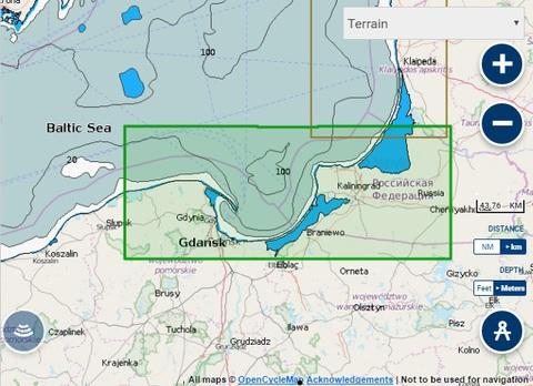 Карта: Калининградская область, Navionics+ Small 5G337S