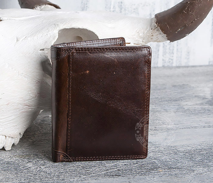 WL275-2 Мужской кошелек из гладкой натуральной кожи