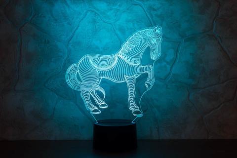 3D ночник Лошадка