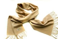 Шерстяной шарф, мужской бежевый 15901