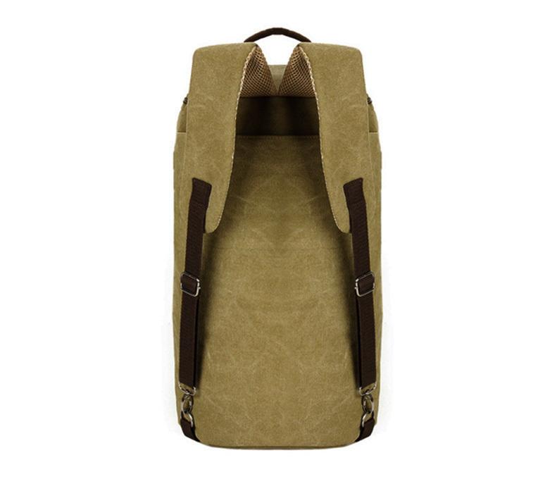 BAG309-2 Мужской рюкзак трансформер из ткани коричневого цвета фото 02