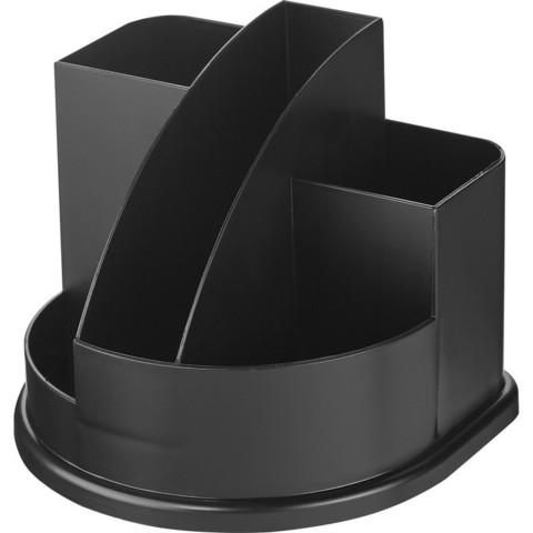Подставка для канцелярских мелочей Attache Профи черная 7 отделений
