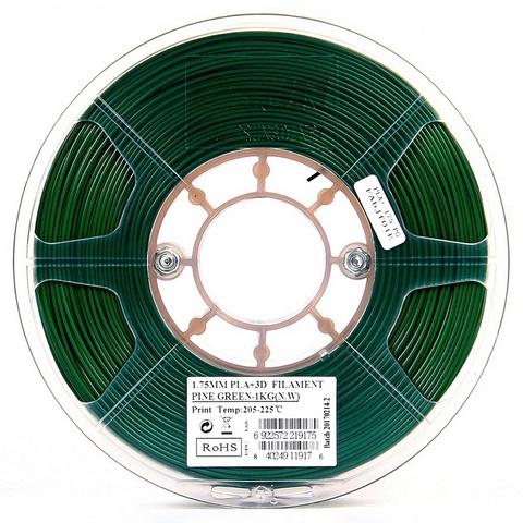 ESUN PLA+ 1.75 мм 1кг., темнозеленый