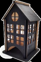 Чайный домик, Подставка для чайных пакетиков, 18х12х12 см. Цвет чёрный.