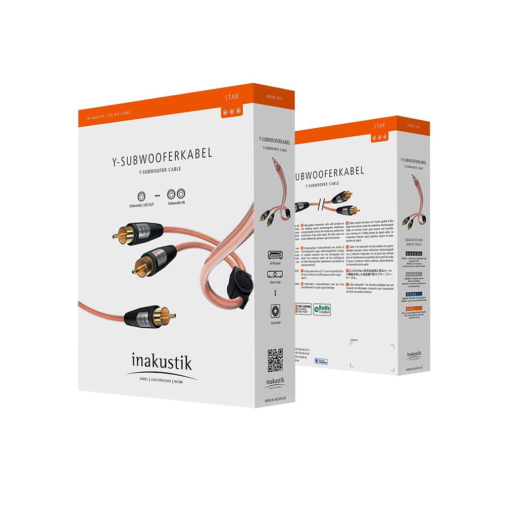 Inakustik Star Audio Cable, Y-Sub, RCA <> 2RCA