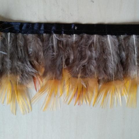 Тесьма  из перьев  фазана  около 6-8 см. Вид 11