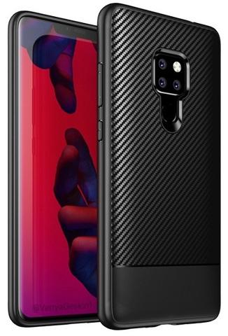Тонкий чехол на Huawei Mate 20 в стиле карбон, серии Fit от Caseport