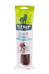 Лакомство для собак крупных пород, TitBit DENTAL, трубочка с бараниной