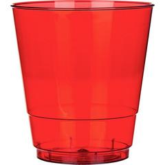 Стакан одноразовый Стандарт пластиковый красный 200 мл 50 штук в упаковке