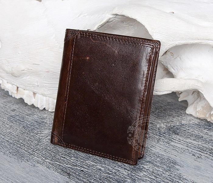 WL275-2 Мужской кошелек из гладкой натуральной кожи фото 02