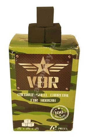 Кокосовый уголь для кальяна VBR 1 кг 72 кубика